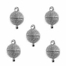 5Pcs Stainless Steel Ball Magnet Snap Button Buckle for DIY Leather Bracelet