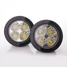 LED Tagfahrlicht TFL Modul 2x 4 LEDs rund 90mm Weiß 5050 SMD 6000K TÜV frei Prem
