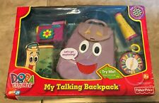 FisherPrice Dora the Explorer My Talking Backpack w/ Compass &Map NEW dented box