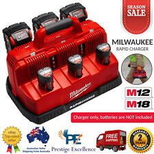 Milwaukee M12-18C3 12V/18V Rapid Charger Station M12 M18 Batteries Chargers Tool