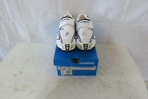 Shimano Men's Triathlon Cycling Shoes - SH-TR60 EU 41.5 US 8 White/Black