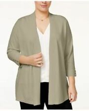 Charter Club Womens Open Front Cardigan 3/4 Sleeve Choose Color/Size Light $79