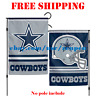 "Dallas Cowboys Logo Garden Outdoor Flag Double Sides 12x18"" NFL 2019 Fan NEW"