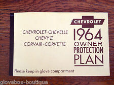 1964 Corvette Convertible Factory GM Original Owners Protection Plan 40867S Car