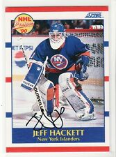 JEFF HACKETT NEW YORK ISLANDERS  AUTOGRAPHED CARD