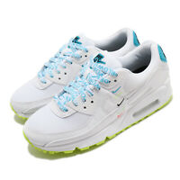 Nike Wmns Air Max 90 WW WorldWide White Blue Volt Womens Casual Shoes CK7069-100