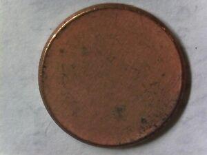 ERROR - NEVER Struck Lincoln Memorial - Blank Cent Planchet - Collectible BP4