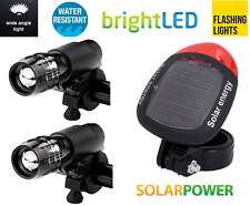 two front pieces & rear solar led bike lights set for bike bicylcles