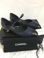Chanel Other Open Shoes Lambskin Sandals in Blue Black $950