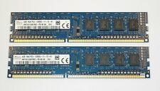 Hynix , 8 Go (2x4GB) , 1600 , DDR3 12800U PC3 , 1.5V , non ECC , Neuf