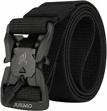 JUKMO Tactical Belt, Military Style 1.5'' Nylon Webbing Belt with Magnetic Quick