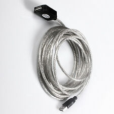 16FT 5M Active USB 2.0 Male to Female Repeater Extension Cable  For Laptop PC
