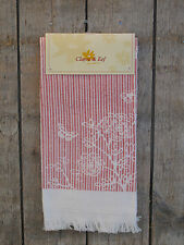 Clayre & Eef - Handtuch / Gästehandtuch - Stripes and Butterflies - rosa - NEU