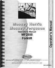Massey Ferguson 2500 Forklift Operators Manual