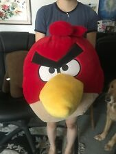 """Large Red Angry Bird Soft Plush 20"""" by 15""""! Excellent Condition"""
