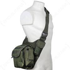 Verde Oliva Molle Hombro Pack Militar Army Tactical Sling Messenger Bag