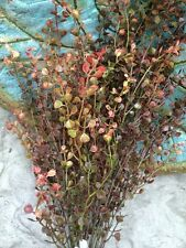21 inch RED PEPPERGRASS PEPPER GRASS BUSH ARTIFICIAL GREENERY ARRANGEMENT FLORAL