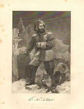 Elisha Kent Kane, Phil, PA, Explorer, US Naval Med. Officer, 1862 Antique Print