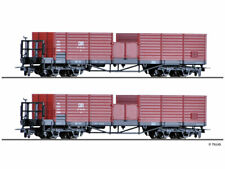 Tillig 15970 SET H0m 2x offene Güterwagen Ow DR EPIII//IV NEU OVP B2B1 µ