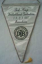 ORIG. gioco GAGLIARDETTO/di trasferimento GAGLIARDETTO Fed Cup 1997 Germania-Repubblica Ceca! Top