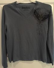 Gray NEIMAN MARCUS Men 100% Cashmere Deep V Size M  Graphic Sweater Winged Back