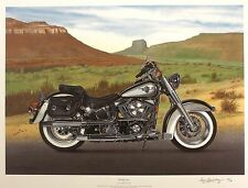 "GOLDSBROUGH ""Prairie King"" harley davidson softail SGD! SIZE:54cm x 70cm NEW"