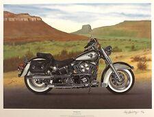 "Goldsbrough ""King"" Harley Davidson Softail Pradera SGD! tamaño: 54cm X 70cm Nuevo"