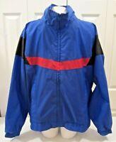 Vintage 90s Wilson Staff Nylon Windbreaker Jacket sz XL Hidden Hood Colorblock