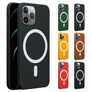 For iPhone 12 Pro Max 12 Mini 12 Pro Magnetic Mag Safes Silicone TPU Case Cover