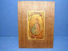 Jolie ancienne peinture sur plaque en cuivre ou laiton