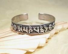 Mantra Armreifen - 925er Silber - Drachen Gravur - Om Mani Padme Hum - Nepal