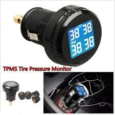 Car Wireless 4 Sensor PSI Tire Pressure Monitoring System TPMS Cigarette Lighter