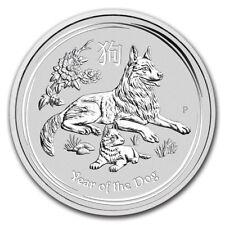 Perth Mint Australia 2018 $8 Lunar Series II Dog 5 oz .9999 Silver Coin
