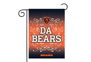 Chicago Bears 13x18 Premium Stitched 2-Sided Outdoor Garden Flag Banner Football