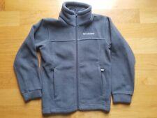 Columbia Charcoal Gray Fleece Zip Front Jacket Boys Girls Unisex Size Medium 8