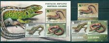 Belarus, Lizards, 2018, 3  stamps + block