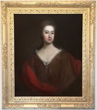 Portrait of a Young Lady Antique Oil Painting 17th Century English School