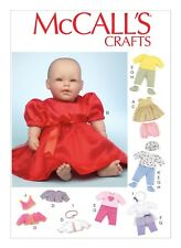 """McCalls SEWING PATTERN M7066 Baby Doll Clothes In 2 Sizes- 11-12"""" & 15-16"""""""