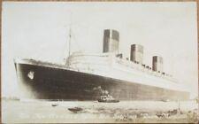 Cunard 'Queen Mary' 1930s Realphoto Postcard: Ocean Liner/Steamship/Steamer Ship