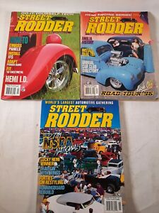 Lot of 3 1996 Street rodder magazine.27th nsra nationals how to fit sheetmetal