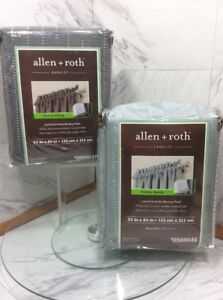 """allen + roth 52"""" x 84"""" Lined Rod Pocket BLACKOUT Panel  -  EARNLEY   NEW *G"""