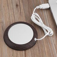 Wood Grain Cup Warmer Heating Mat Pad Drink Coffee USB Office Portable Heater