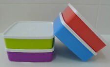 4 x Tupperware Large Square-A-Way 620ml Container Lunch Box Set + Free Shipping