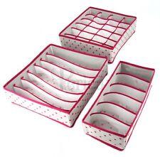 Confezione da 3. soluzioni di Storage Box Armadio Organizer Cassetto Portaoggetti Calzini Reggiseno 3wpi