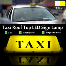 Yellow Light Magnetic Base Waterproof Taxi Roof Top Car Cab LED Sign Lamp 12V