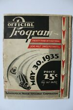 1935 Indianapolis 500 / Indy 500 program