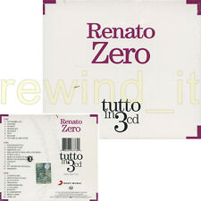 """RENATO ZERO """"TUTTO IN 3 CD"""" RARO BOX 3 CD - SIGILLATO"""