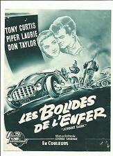 FEUILLET EXPLOITATION FILM BOLIDES DE L'ENFER COURSES AUTO