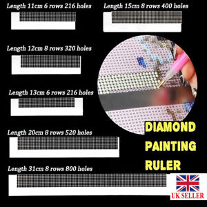 UK Stainless Steel Diamond Painting Ruler DIY Sewing Embroidery Accessories
