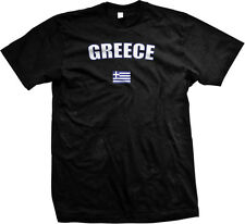 Greece Greek Athens Europe Flag Country Pride Islands Mens T-shirt